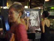 Bunny Bone Live Painting @ MONSOON art exhibition