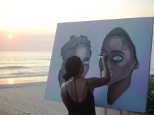 Bunny Bone Live Painting @ Alila Seminyak