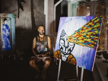 Evgeny Bam Live Painting at Nyaman Gallery