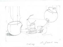 Eating - Skecth by L. Fauzi