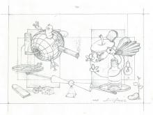 Pencil Sketch on paper by L. Fauzi
