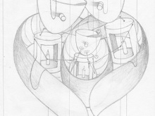 Family - Sketch by L. Fauzi