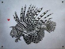 Lion Fish on Aluminium Plate