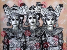 Trio Legong Dancer by Quint