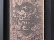 Barong-Mask-Tintype-Photo-scan-printed-on-banana-paper-40-x-31-cm