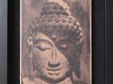 Buddha-Head-Tintype-Photo-scan-printed-on-banana-paper-40-x-31-cm