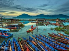 Blue Boats by Yoga Raharja