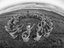 Kecak Dance On The Beach by Yoga Raharja
