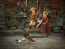 Feeding The Chicken by Yoga Raharja