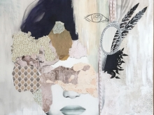 Pealing off Layers - Finding the Inner. Mixed Media irene Hoff