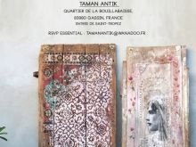 YOKII - Exhibition at TAMAN ANTIK, St. Tropez, France