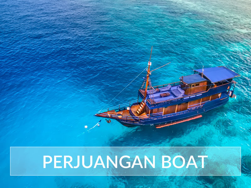 Perjuangan Boat on the sea