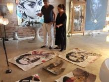 Jean M. Aucler in Nyaman Gallery Bali