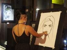 Bunny Bone Live Painting @ MONSOON art exhibition
