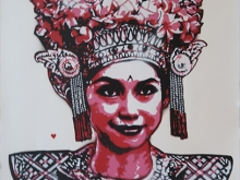93. KERATON LEGONG DANCER SMILE RED