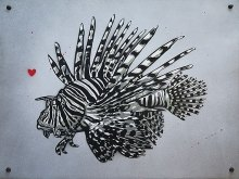 Lion Fish on Aluminium Plate
