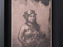 Balinese-Dancer-3-Tintype-Photo-scan-printed-on-banana-paper-40-x-31-cm