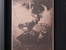 Pendet-Dancer-2-Tintype-Photo-scan-printed-on-banana-paper-40-x-31-cm