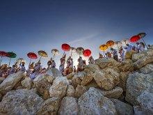 Colorful Umbrella by Yoga Raharja